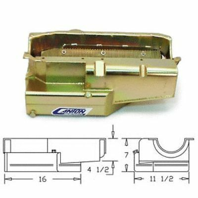 Canton 11-186 Circle Track Wet Sump Oil Pan For Small Block Chevy Open Chassis
