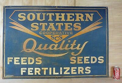 Old Southern States Co-op Quality Feeds Seeds Lg Advertisng Sign Am Va Hetrolite