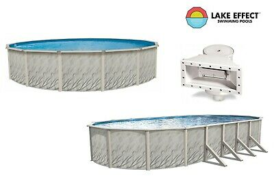 Meadows Above Ground Round & Oval Steel Wall Swimming Pool & Liner Kit