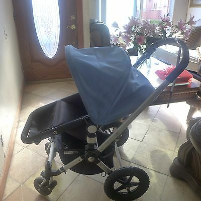 Baby Strollers Bugobo Frogn Blue Bottle Holder It Is In Good Condition