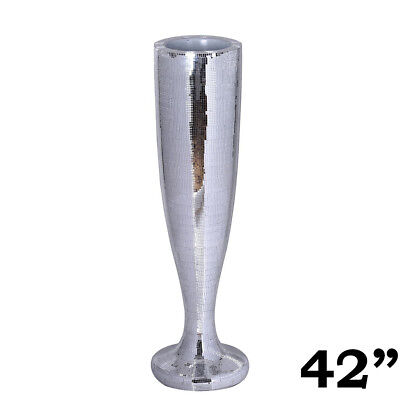 """Silver Mirror Mosaic Wedding Vases 42"""" Tall Centerpieces Decorations Wholesale"""