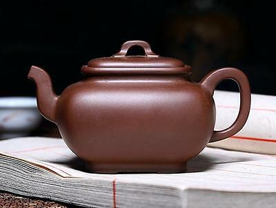 Chinese Yixing Ancient Delicate  Hand-carved  Purple Sand Teapot N