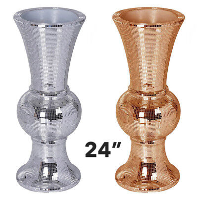 """Mirror Mosaic Wedding Vases 24"""" Tall Centerpieces Party Decorations Wholesale"""