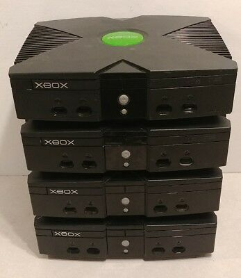 Lot Of 4 Original Xbox Consoles Systems As Is For Parts Or Repair Broken #4