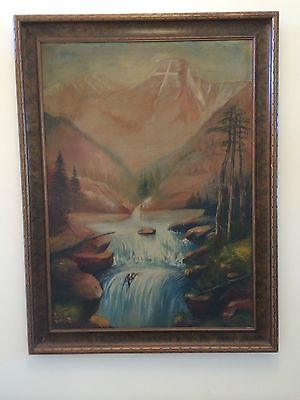 Holy Cross Mountain, Antique Oil Painting, Signed M. Frost