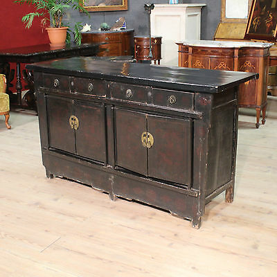 Special Cupboard 4 Doors 4 Drawers Lacquered Painted Chinese Period