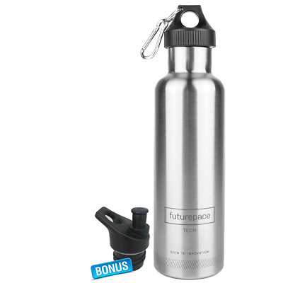 Best Stainless Steel Insulated Sports Water Bottle-large Silver, Office, Gym, Ru