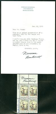 Edw1949sell : Autographs P/b Signed By Norman Rockwell As Artist + Signed Letter