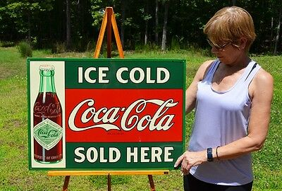 Vintage 47 Year Old Coca Cola Replica Of 1907 Sign In Petretti Guide Dead Mint