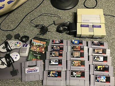Original Super Nintendo Snes  Tested And Working!!!  15 Games Super Game Boy And