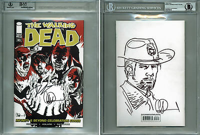 Robert Kirkman & Charlie Adlard(2) Signed The Walking Dead #85 Variant Comic Bas