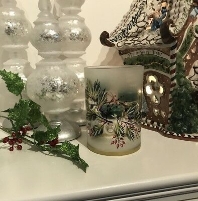 Yankee Candle 2017 Winter Sparrow Frosted Multi Tea Light Holder Holiday Xmas