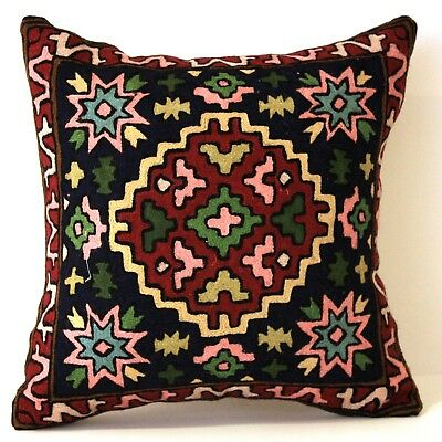 Setof2 Star Kilim Tribal Navajo Red Aztec Throw Pillow Moroccan Bohemian Cushion