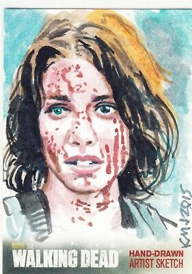 2016 The Walking Dead Season 4 Part 2 Sketch Card Maggie Greene By Ken Meyer Jr