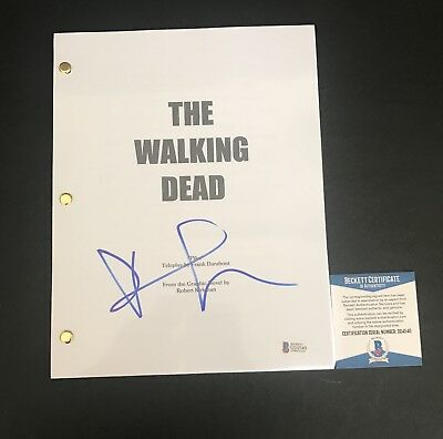 Andrew Lincoln Signed Walking Dead Full Pilot Script Authentic Autograph Beckett