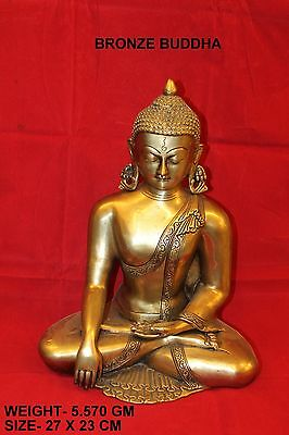 vintage lord of peace buddha statue figure collectible india