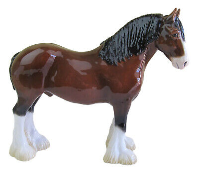 John Beswick Ceramic Clydesdale Or Heavy Horse Figurine Approx 18cm High