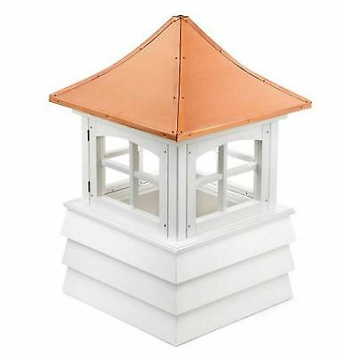 guilford 54 in. x 54 in. x 85 in. vinyl windowed cupola home shed outdoor cover