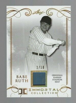 2017 Leaf Baseball Babe Ruth Immortal Collection 1/10 Made-yankee Stadium Seat