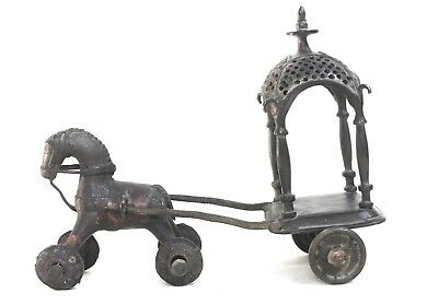 horse chariot solid brass vintage collectible decorative us133bh