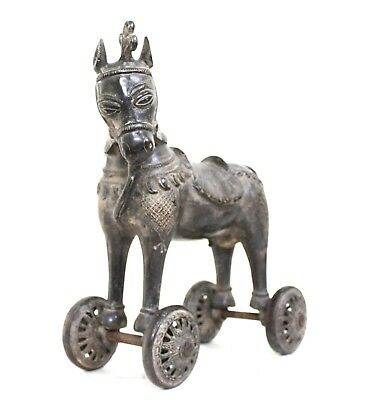 horse statue home decor vintage solid brass decorative collectible home us185b
