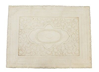 vintage mughal table top white marble stone hand carved decorative art us217mh