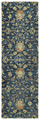 bungalow rose toshiro hand tufted wool denim area rug