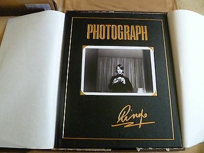 ringo starr photograph deluxe genesis publications rare signed book the beatles