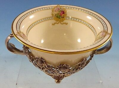 Chrysanthemum By Tiffany & Co. Sterling Silver Bouillon Cup W/lenox Liner #2635