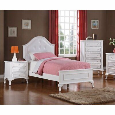 Picket House Furnishings Jenna 3 Piece Full Kids Bedroom Set In White