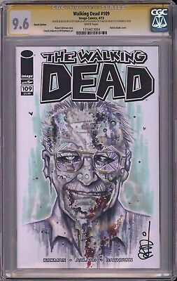 Walking Dead #109 Cgc Ss 9.6 Stan Lee Signed Zombie Cameo Cosplay Sketch Vhtf