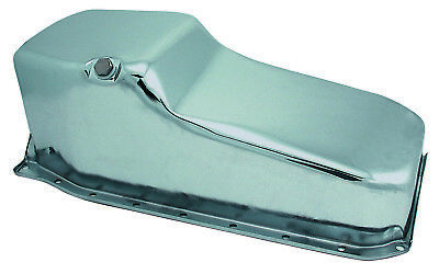 Oil Pan Sump Chevrolet Small Block 1986 Up 265-400 Chrome Plated 1pc Rear Main