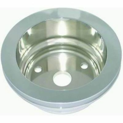 Racing Power Company R9484pol Polished Aluminum Single Groove Pulley For Sbc