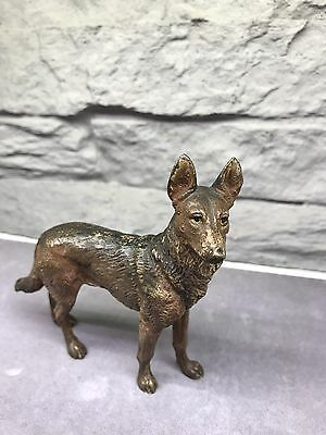 Franz Bergmann Austrian Bronze Vienna Bronze Cold Painted Dog German Shepherd