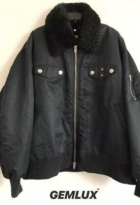 calvin klein 205w39nyc shearling lined oversized bomber jacket 50  l rrp £2100