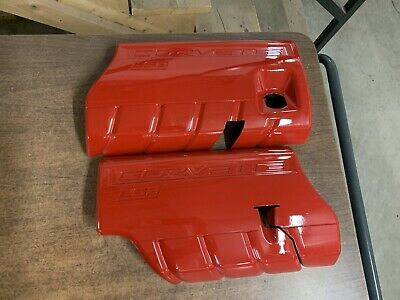Ls3 Coil Covers Engine Covers Corvette Camaro Ls Swap Red Painted New