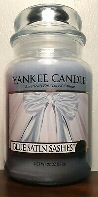 Yankee Candle Blue Satin Sashes Large 22 Oz Jar My Favorite Things Collection