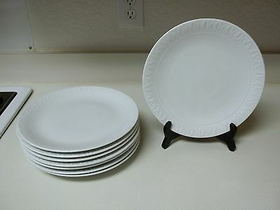 Gibson Housewares ~ White Diamonds ~ Set Of 8 Dinner Plates