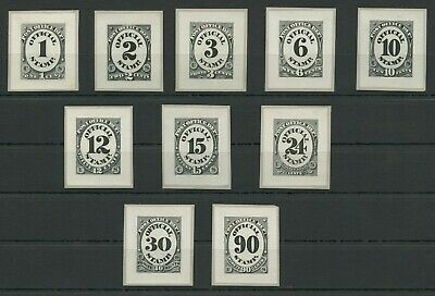 #o47p2-o56p2 1c-90c Post Office Dept Small Die Proof Set Xf-superb Wlm7912