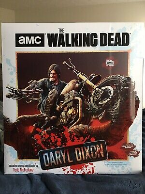 Mcfarlane The Walking Dead Tv Daryl Dixon Resin Statue Ltd Ed. Sealed Orig. Box