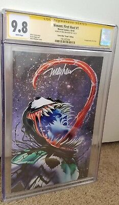 Venom First Host #1 Comic Mint Virgin Variant Cgc Ss  9.8 Signed By Mike Mayhew