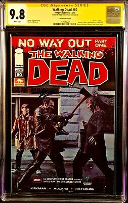 Image Comics The Walking Dead #80 Cgc Ss 9.8 Kirkman Zombies Convention Edition