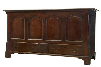 18th Century Large English Oak Mule Chest Coffer