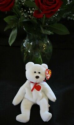 """Ty Beanie Baby """"valentino"""" Bear With All Extremely Rare Errors"""