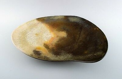 Hans Hedberg (1917-2007) Swedish Ceramist. Unique Very Large Ceramic Dish