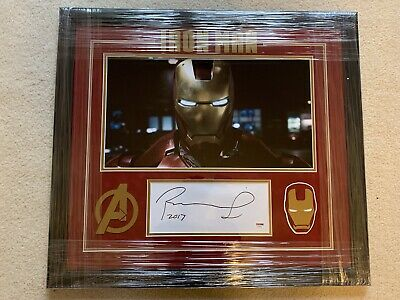 Robert Downey Jr Iron Man Framed Autograph Signed Avengers Rare Psa Cert