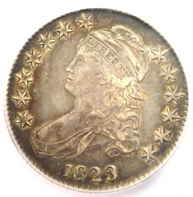 1823 ugly 3 capped bust half dollar 50c  icg xf45  rare variety  $1230 value!