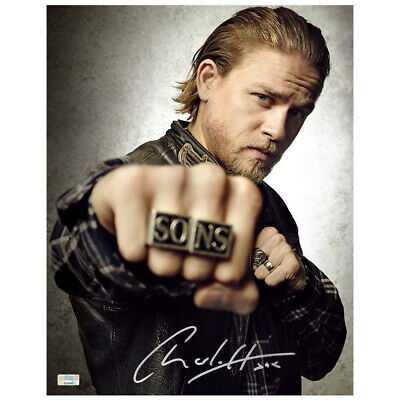 Charlie Hunnam Autographed Sons Of Anarchy Jax Rings 11x14 Photo
