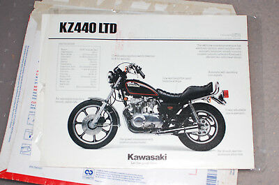 Kawasaki Kz440 Ltd, Print, Advertisement, Vintage, Two Sided,with Russell Cycles