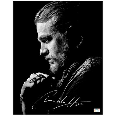 Charlie Hunnam Autographed Sons Of Anarchy Jax Teller 11x14 Black